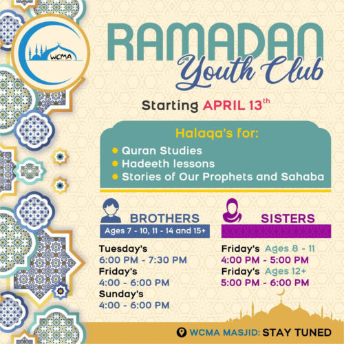 RAMADAN YOUTH CLUB